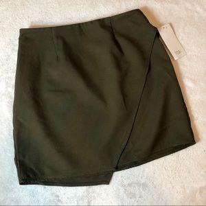 Tobi Green Wrap Skirt